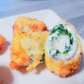 魚の大葉チーズロール揚げ♡魚フライ♪