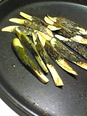 茄子の味噌大葉焼き