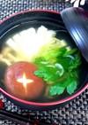 茸と豆腐のお吸い物