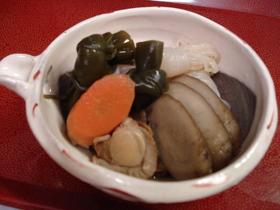 蒸し帆立と根菜の煮物