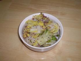 白菜のゆかり和え