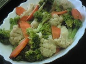ブロッコリー&カリフラワー炒めサラダ