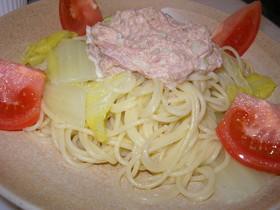 簡単白菜ツナマヨスパゲティー