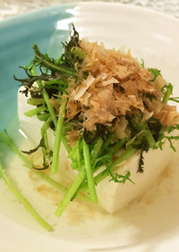 サラダからし菜の湯豆腐*東京ガス