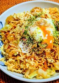ペヤングソース焼きそばアレンジ✿温泉卵編