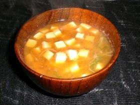 豆腐と水菜のお味噌汁