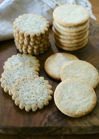 生クリームで薄焼きクッキー