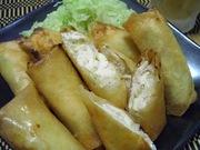 そのまま食べて☆鶏胸肉と長ネギの塩春巻きの写真