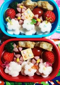 幼稚園(年少)双子のお弁当16