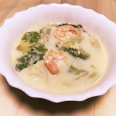 ☆白菜と海老のとろとろ豆乳スープ☆