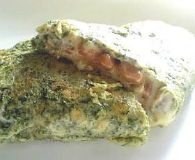 とろ〜り納豆チーズオムレツ
