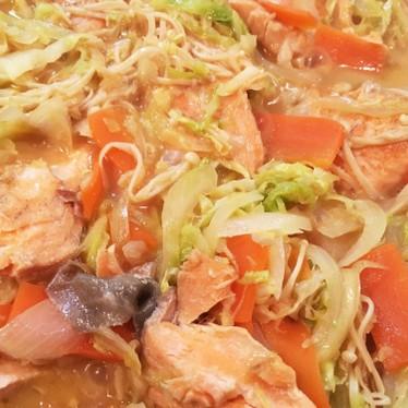 鮭のちゃんちゃん焼き(フライパンでOK)