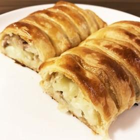 モッツァレラチーズ豚肉ポテトのパイ包み