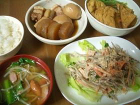 小松菜とウィンナーの味噌汁