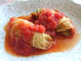 白菜のトマト煮♪ウインナーロール