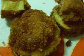 ズッキーニと豚肉のフライ