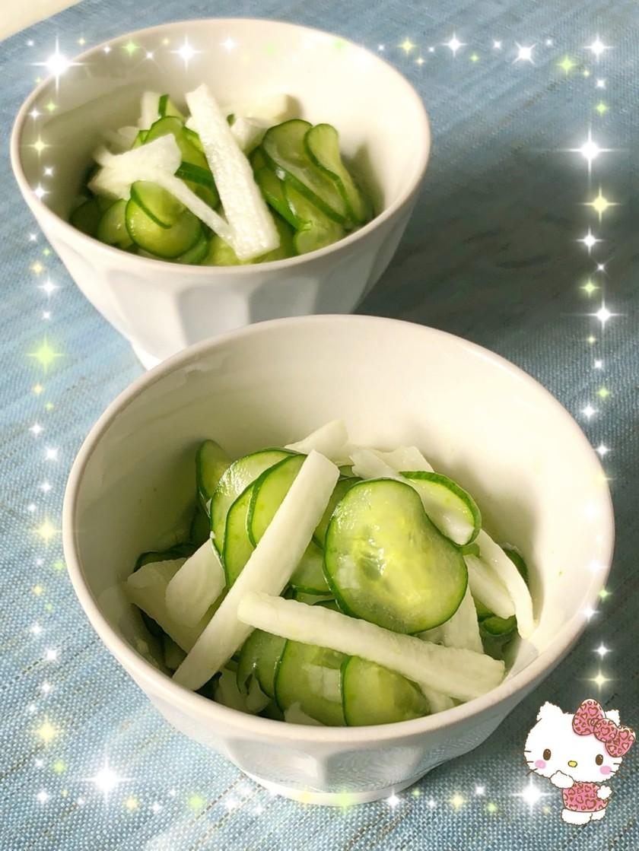 胡瓜と長芋の酢物〜(o˘◡˘o)♡