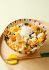 スタミナ満点☆豚キムチのトロトロ卵とじ丼