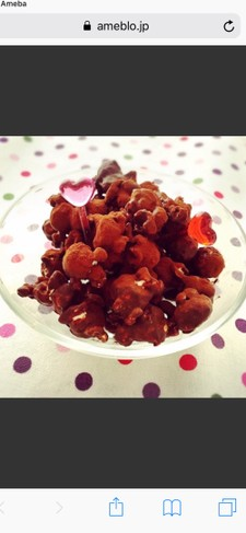 チョコレートポップコーン