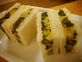 ほうれん草とじゃが芋のサンドイッチ