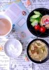 冷食と 高野豆腐なめこ味噌汁 糖質制限