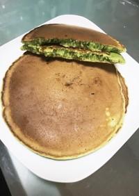 青汁で抹茶風ホットケーキ