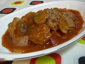 ♡チキンと野菜のトマト風赤ワイン煮♡