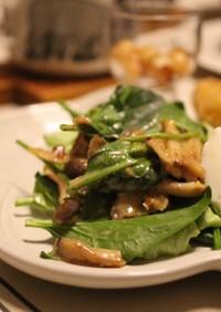 我が家の定番サラダ!きのことゴマの温野菜