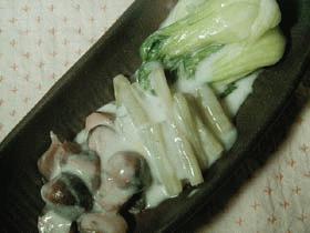 蕗と中国野菜のクリーム煮