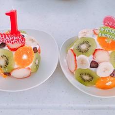 1歳の誕生日に☆簡単 親子離乳食ケーキ