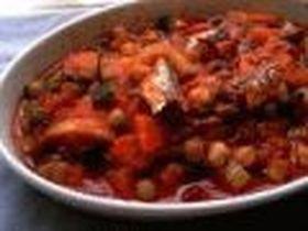 豆と野菜のシナモントマト煮