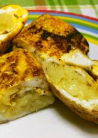スペイン風たまご焼き(卵2個、ポテト1個