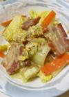 ベーコンと白菜の炒めもの カルボナーラ風