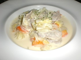 豚肉とトロトロ白菜のクリーム煮