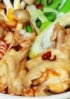 鶏肉鍋トマト味でピリ辛アラビアータ風