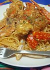 渡り蟹のトマトクリームスパゲティ☆