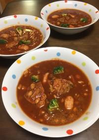 豚と大豆のトマト煮込みミネストローネ風