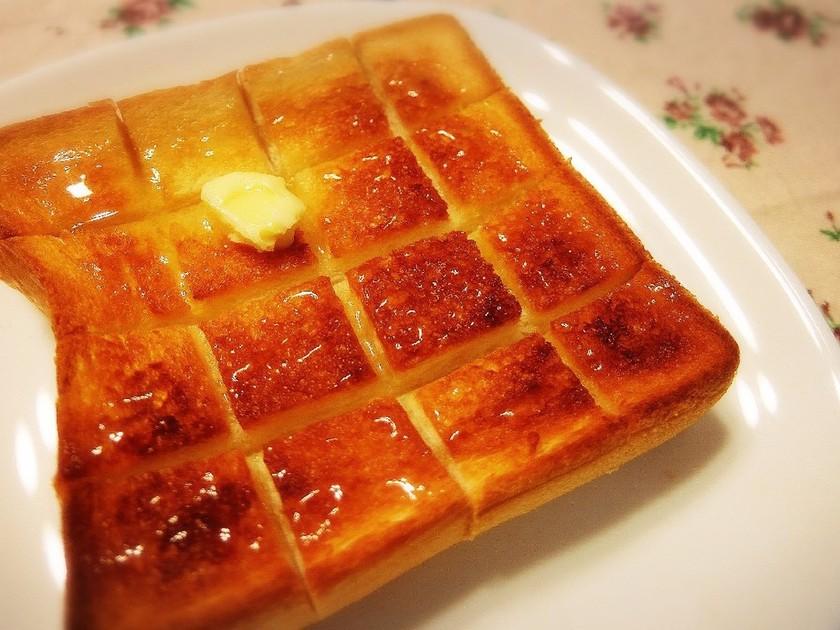 ☆朝食に簡単厚切りハニーバタートースト☆