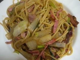 カブラとと野沢菜の和風ペペロンチーノ風
