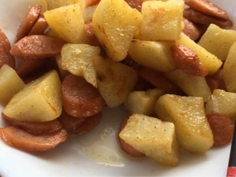 ジャガイモのギー炒め