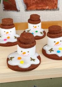 雪溶けスノーマン♡雪だるま♡クッキー♡
