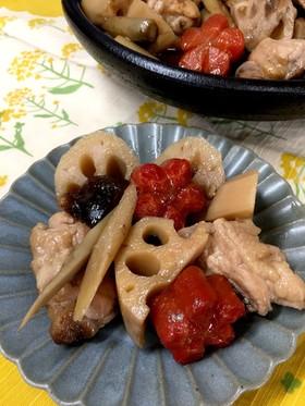 素材の旨味がじんわり  鶏と根菜の煮物