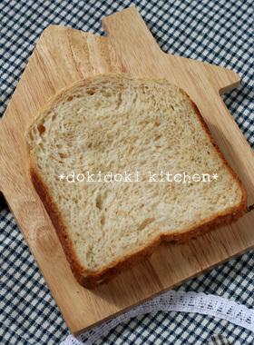HBで♡ノンオイルのグラハム食パン