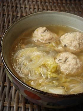 肉団子の春雨スープ