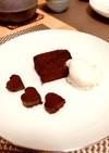お豆腐生チョコケーキ