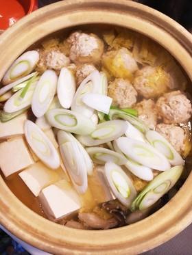 ほっこり!あったか!鶏団子の生姜鍋♫