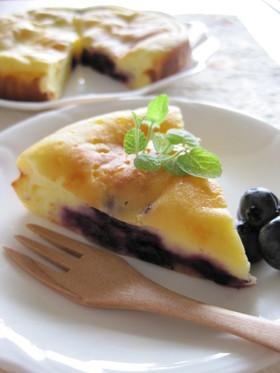 ブルーベリーの米粉ヨーグルトケーキ