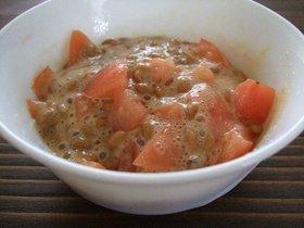 私のトマト納豆。