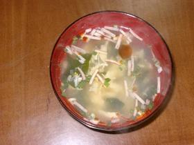 FD卵スープで♪簡単サンラータン♪