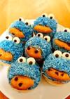 クッキーモンスターのカップケーキ